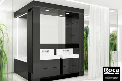 Projekt wnętrza. . Konkurs ROCA na projekt łazienki - wyróżnienie