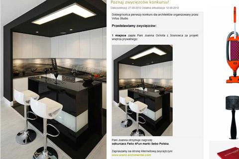 Projekt wnętrza. . Konkurs VIRTUS STUDIO - I nagroda