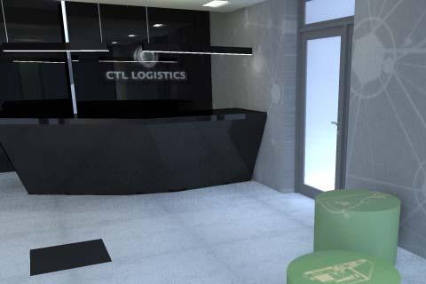 Projekt wnętrza. Katowice. CTL Logistics Katowice