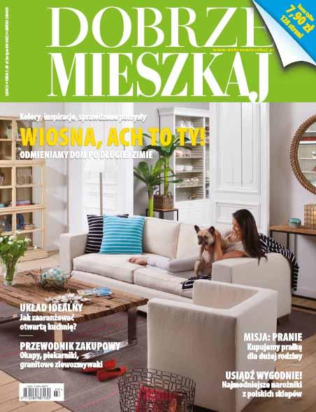 """Projekt wnętrza. . Artykuł """"Akademia Dobrze Mieszkaj ruszyła"""" w miesięczniku Dobrze Mieszkaj 3/2013"""