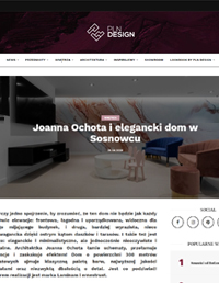 Projekt wnętrza. . Artykuł Joanna Ochota i elegancki dom w Sosnowcu