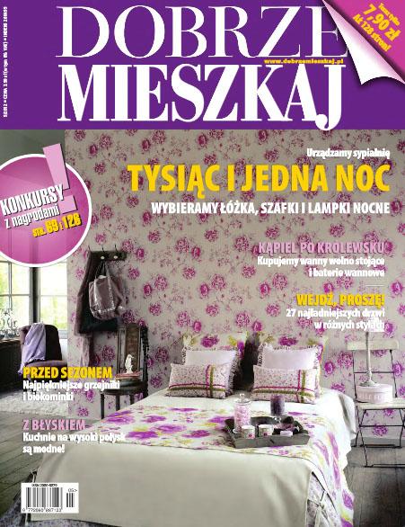 """Projekt wnętrza. . Artykuł """"Na wysoki połysk"""" w miesięczniku Dobrze Mieszkaj 5/2012"""