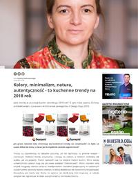 Projekt wnętrza. . Kolory minimalizm natura autentyczność kuchenne trendy na 2018 rok